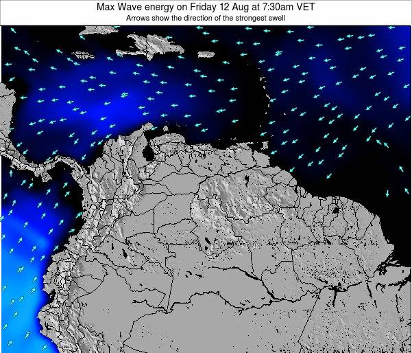 Trinidad and Tobago Max Wave energy on Thursday 12 Dec at 1:30pm VET