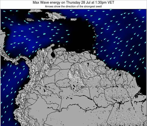 Trinidad and Tobago Max Wave energy on Thursday 01 May at 1:30am VET