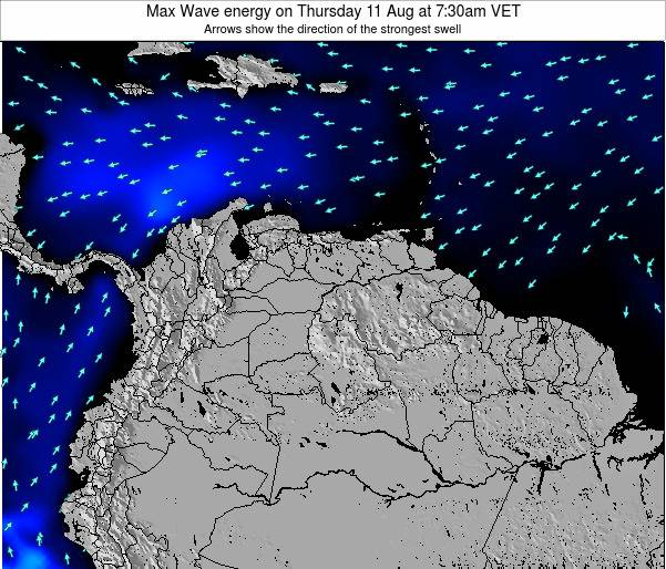 Trinidad and Tobago Max Wave energy on Friday 08 Aug at 1:30am VET