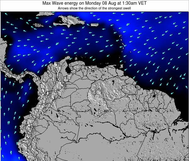 Venezuela Max Wave energy on Monday 20 May at 7:30am VET
