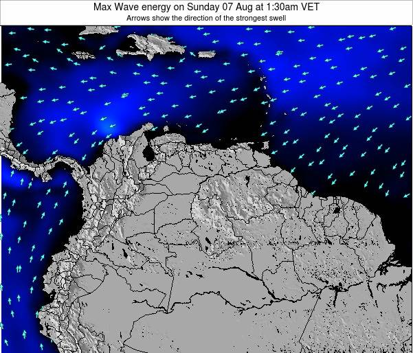 Trinidad and Tobago Max Wave energy on Monday 10 Mar at 1:30am VET