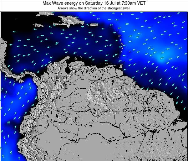 Trinidad and Tobago Max Wave energy on Monday 27 May at 7:30pm VET