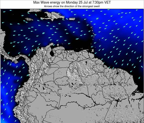Venezuela Max Wave energy on Tuesday 21 May at 7:30am VET