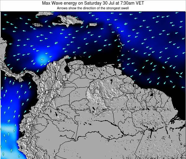 Aruba Max Wave energy on Monday 24 Apr at 1:30am VET