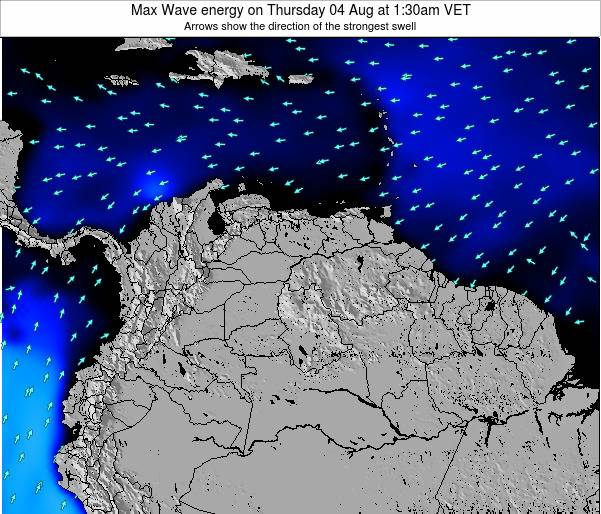 Trinidad and Tobago Max Wave energy on Tuesday 31 Mar at 1:30am VET