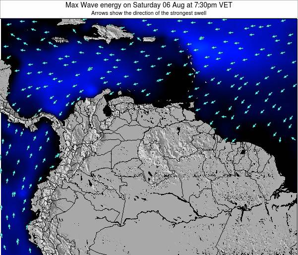 Trinidad and Tobago Max Wave energy on Thursday 04 Sep at 1:30pm VET