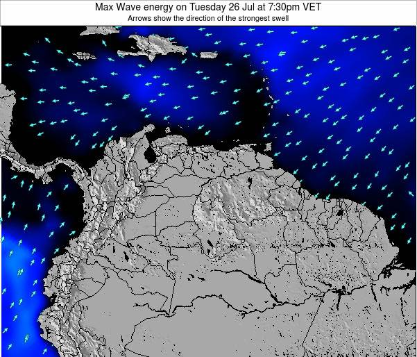 Trinidad and Tobago Max Wave energy on Monday 28 Jul at 1:30pm VET