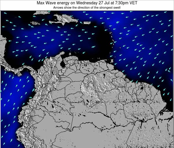 Trinidad and Tobago Max Wave energy on Friday 03 Oct at 1:30pm VET