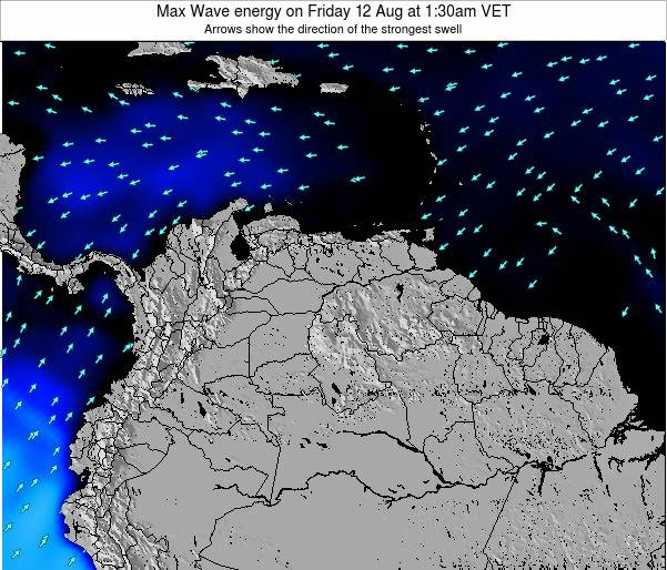 Trinidad and Tobago Max Wave energy on Sunday 23 Jun at 1:30am VET