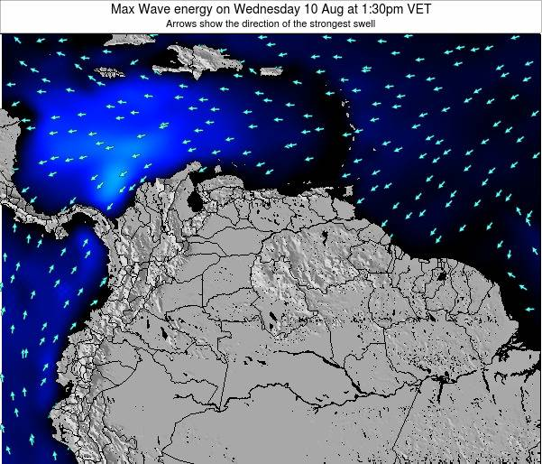 Trinidad and Tobago Max Wave energy on Saturday 02 Aug at 1:30pm VET