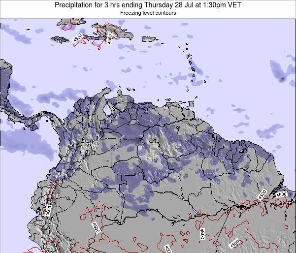 Venezuela Precipitation for 3 hrs ending Monday 27 May at 1:30pm VET