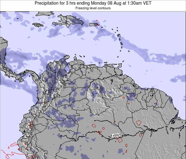 Venezuela Precipitation for 3 hrs ending Wednesday 22 May at 1:30pm VET