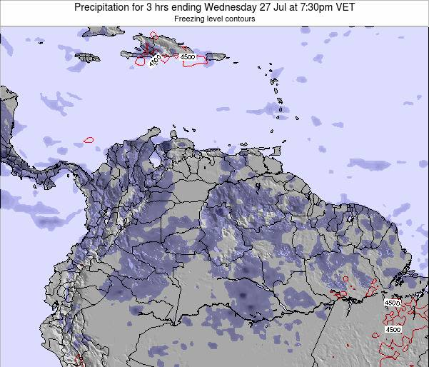 Venezuela Precipitation for 3 hrs ending Wednesday 29 May at 1:30am VET