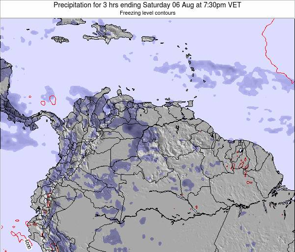 Venezuela Precipitation for 3 hrs ending Tuesday 21 May at 1:30pm VET