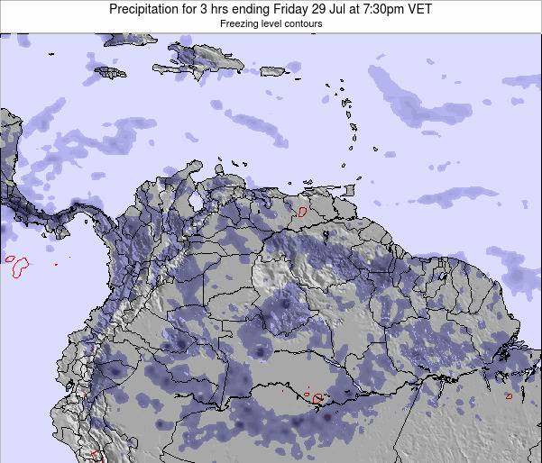 Venezuela Precipitation for 3 hrs ending Thursday 30 May at 1:30pm VET