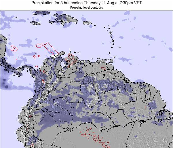 Venezuela Precipitation for 3 hrs ending Friday 24 May at 7:30pm VET