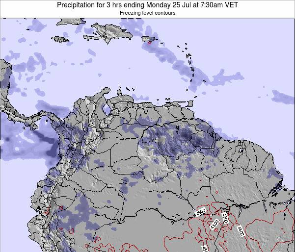Venezuela Precipitation for 3 hrs ending Monday 27 May at 7:30am VET