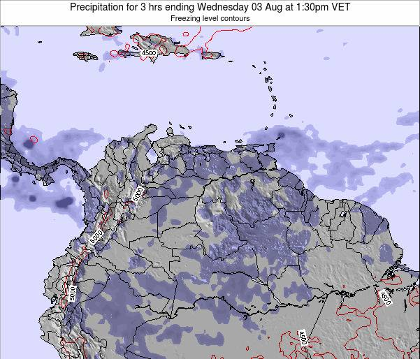 Venezuela Precipitation for 3 hrs ending Saturday 18 May at 1:30am VET