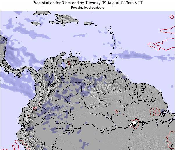 Venezuela Precipitation for 3 hrs ending Tuesday 21 May at 7:30pm VET