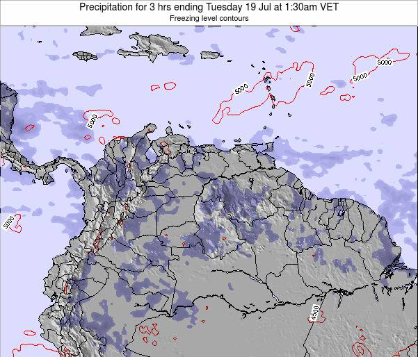 Venezuela Precipitation for 3 hrs ending Wednesday 22 May at 1:30am VET