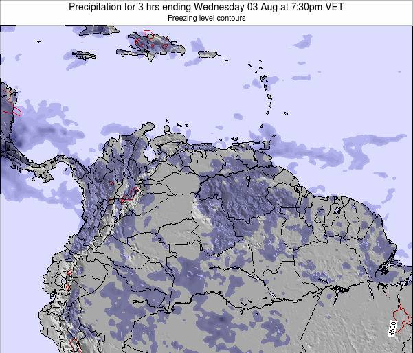 Venezuela Precipitation for 3 hrs ending Tuesday 28 May at 1:30pm VET