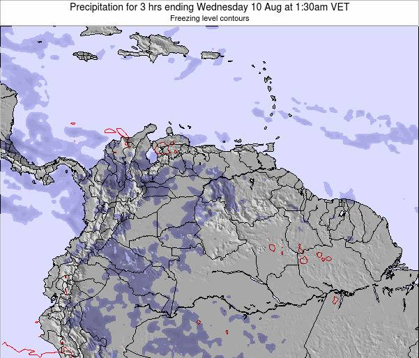 Venezuela Precipitation for 3 hrs ending Friday 24 May at 7:30am VET