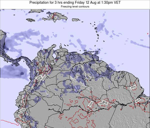 Venezuela Precipitation for 3 hrs ending Saturday 25 May at 1:30am VET