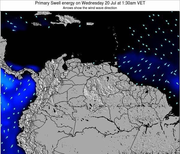 Venezuela Primary Swell energy on Friday 25 Apr at 1:30am VET