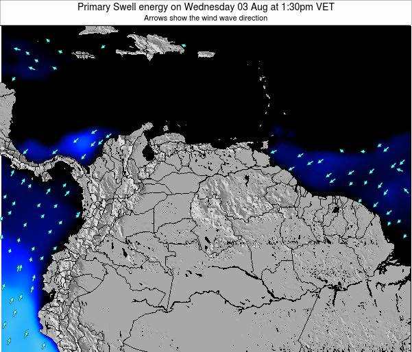 Venezuela Primary Swell energy on Tuesday 01 Sep at 1:30pm VET