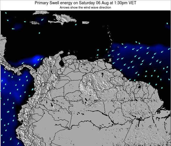 Venezuela Primary Swell energy on Sunday 26 Mar at 1:30pm VET