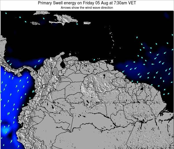 Venezuela Primary Swell energy on Wednesday 04 Dec at 1:30pm VET