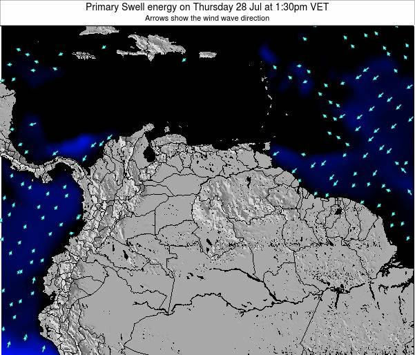 Venezuela Primary Swell energy on Monday 24 Nov at 7:30am VET
