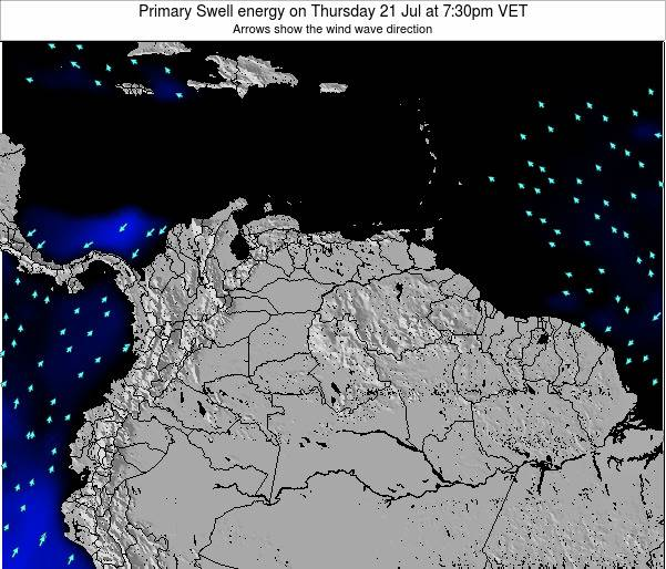 Venezuela Primary Swell energy on Tuesday 22 Jul at 7:30pm VET