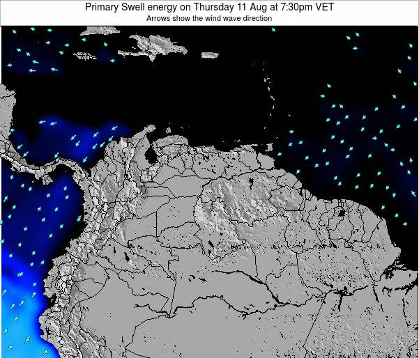 Venezuela Primary Swell energy on Sunday 30 Apr at 1:30am VET