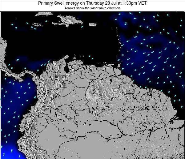 Venezuela Primary Swell energy on Sunday 03 May at 1:30am VET
