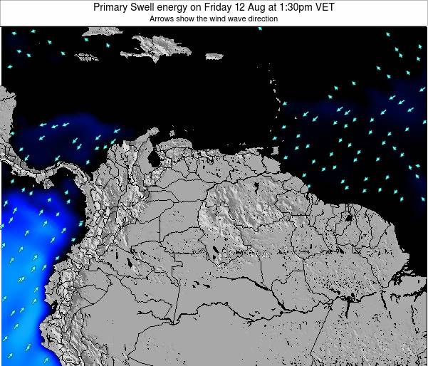 Venezuela Primary Swell energy on Friday 09 Dec at 1:30pm VET