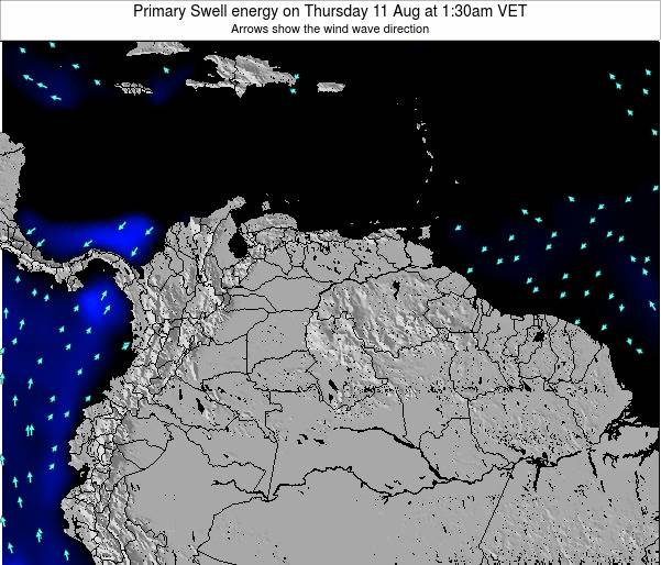 Venezuela Primary Swell energy on Friday 12 Feb at 1:30pm VET