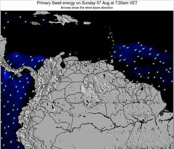 Venezuela Primary Swell energy on Monday 21 Apr at 7:30pm VET