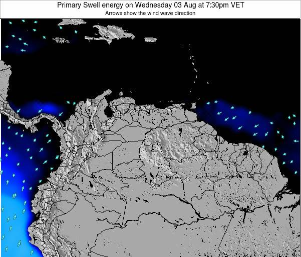 Venezuela Primary Swell energy on Tuesday 29 Jul at 1:30am VET
