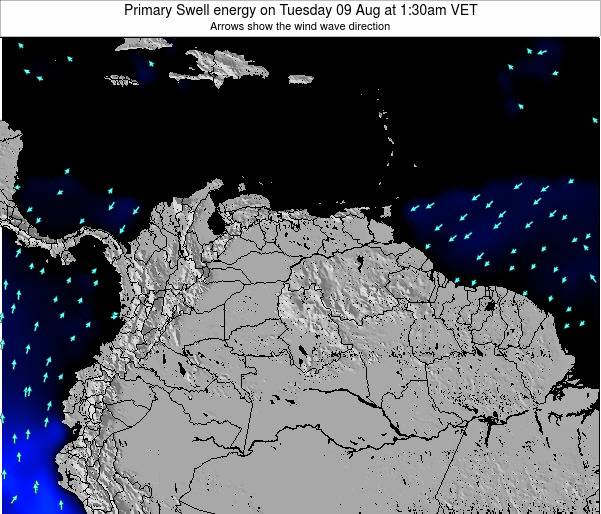 Venezuela Primary Swell energy on Saturday 08 Aug at 1:30pm VET
