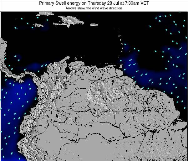 Venezuela Primary Swell energy on Wednesday 29 May at 1:30am VET