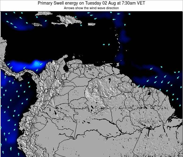 Venezuela Primary Swell energy on Monday 24 Jun at 1:30am VET