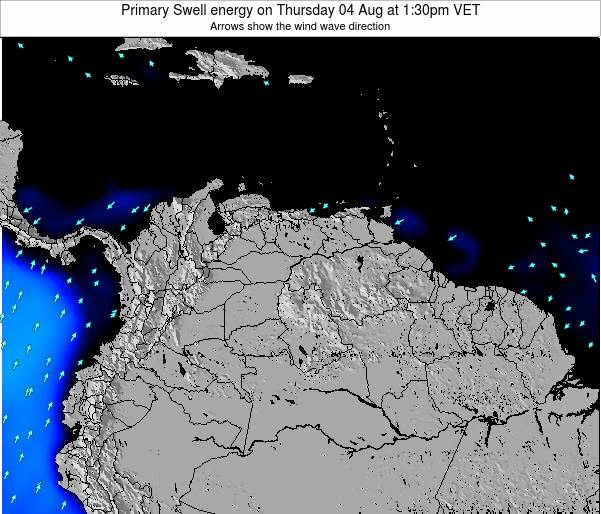 Venezuela Primary Swell energy on Saturday 07 Mar at 7:30am VET