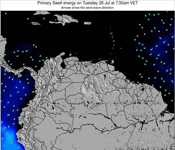 Venezuela Primary Swell energy on Tuesday 17 Dec at 1:30am VET