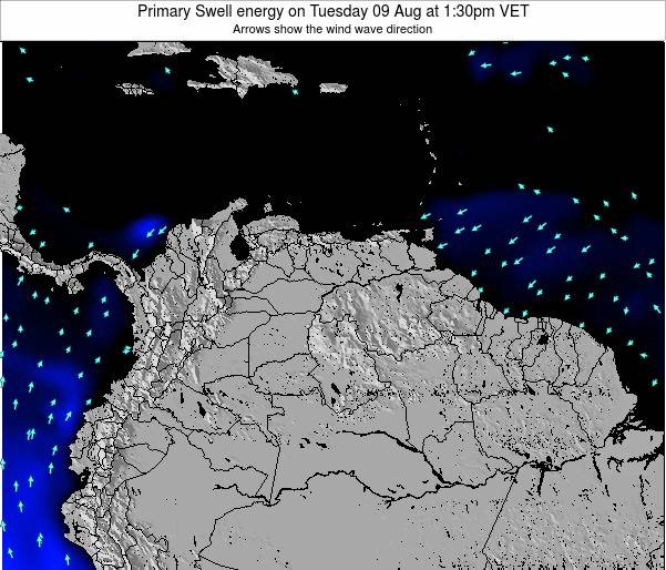Venezuela Primary Swell energy on Tuesday 07 Jul at 1:30pm VET