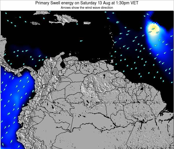 Venezuela Primary Swell energy on Sunday 16 Mar at 1:30pm VET