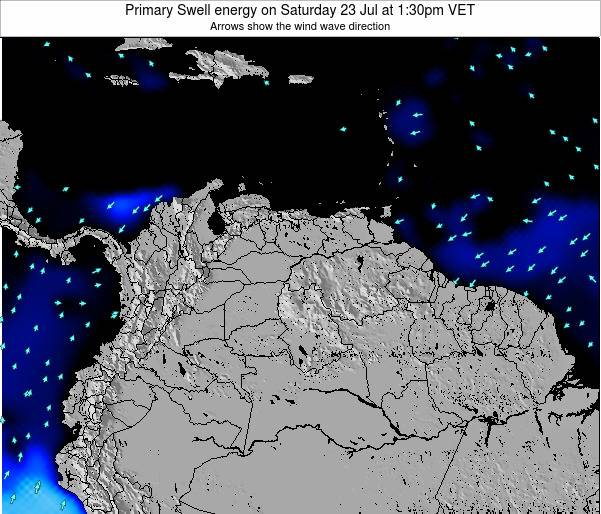 Venezuela Primary Swell energy on Sunday 27 Jul at 1:30pm VET