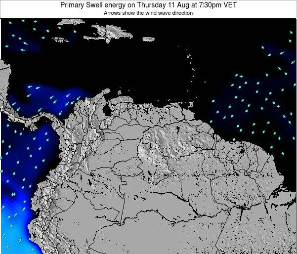 Venezuela Primary Swell energy on Wednesday 23 Apr at 7:30pm VET