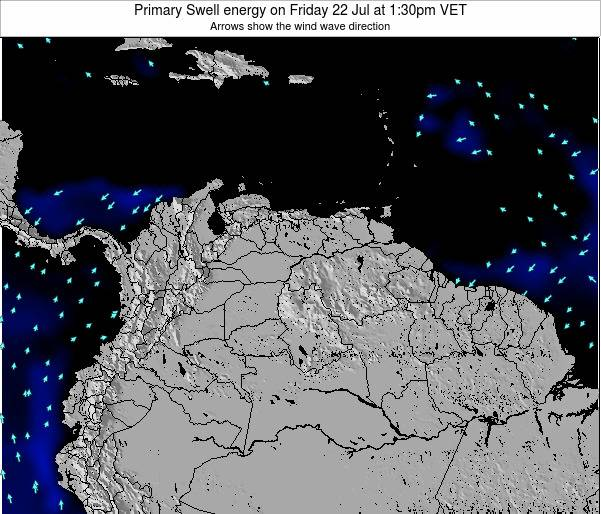 Venezuela Primary Swell energy on Thursday 01 May at 1:30am VET