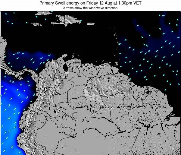 Venezuela Primary Swell energy on Tuesday 17 Dec at 1:30pm VET